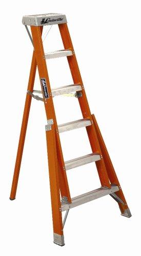 Louisville Ladder FT1012 300-Pound Duty Rating Fiberglass Tripod Ladder, 12-Foot