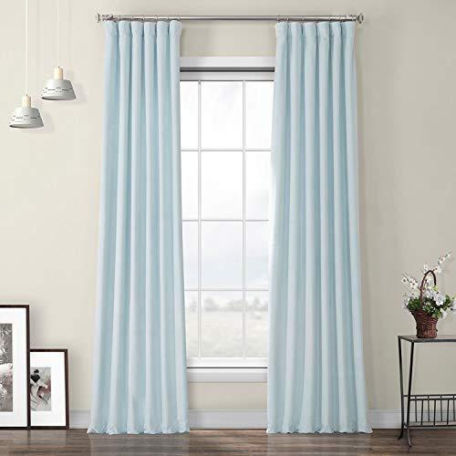 Aquarius Blue Plush Velvet Curtains