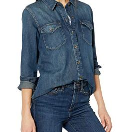 Amazon Brand – Goodthreads Women's Denim Long-Sleeve Shirt