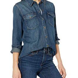Amazon Brand – Goodthreads Women's Denim Long-Sleeve Shirt