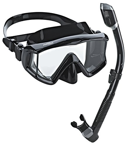 Phantom Aquatics Panoramic Scuba Mask Snorkel Set