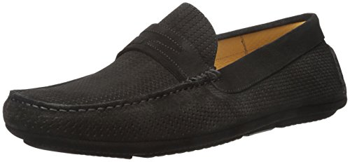41sUk2GkJVL Loafer featuring basketweave texture and waxed piecing at collar, heel, and faux penny keep Rolled moccasin toe Breathable leather insole