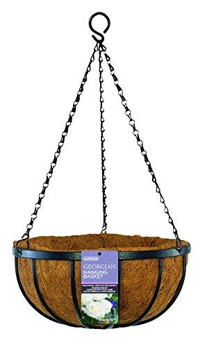 "Gardman R212 Georgian Hanging Basket with Coco Liner, 16"""