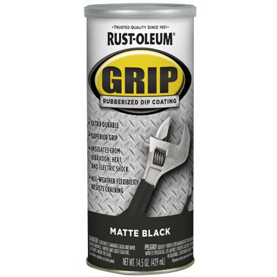 Best Plasti Dip RUST-OLEUM 322126 Black Matte Rubberized Dip Coating, 14.5 ounce