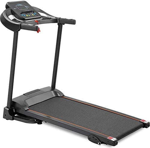 Unique-Shop Treadmills for Home 300 lbs Weight Capacity Folding Motorized Running Jogging Machine with Audio Speakers and Incline 1