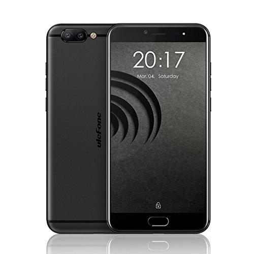 Ulefone Gemini Pro MTK6797 Deca Core Android 7.1 Mobile Phone 2 Back Camera 5.5'' Cell Phones 4G RAM 64G ROM Smartphone (Black)