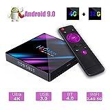 H96 MAX Android 9.0 TV Box, EstgoSZ 4GB 32GB Android Box USB 3.0/BT 4.0/2.4G 5G Dual WiFi/3D/4K/H.265 KD18.1 Smart Android TV Box