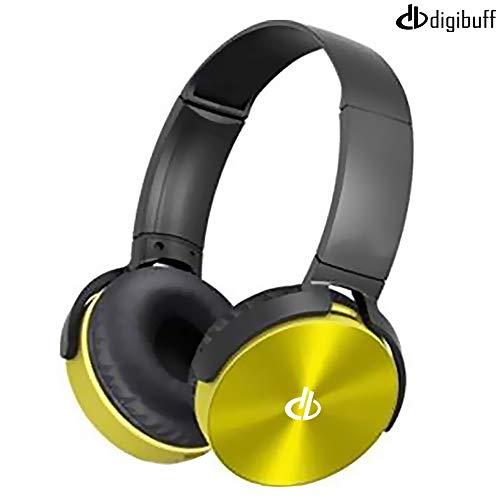 Digibuff-BT450-Wireless-Extra-bass-Bluetooth-Headphones-Over-The-Ear-Headset-with-Deep-bass-Black-Yellow