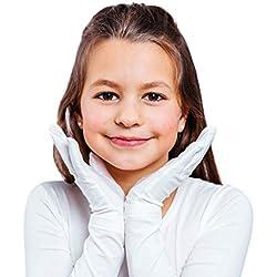 Moisturizing Eczema Gloves for Kids | Hand Moisturizing Gloves for Eczema with Anti-Inflammatory (Tencel + Zinc) - White, 7-9 Years