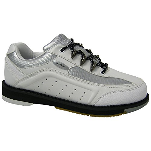 Elite Platinum White Right Hand Bowling Shoes - Womens 8