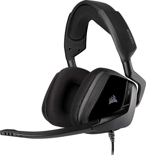 Corsair VOID ELITE Surround Gaming Headset (7.1 Surround Sound, Optimised Omnidirection Microphone with PC, PS4, Xbox One, Switch and Mobile Compatibility) Black