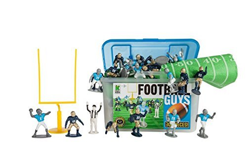 Kaskey Kids Football Guys - Inspires Imagination with endless hours of creative, open-ended play – Includes 2 Full Teams and Accessories. Fun way to teach the rules of the game. 25+ pieces. Ages 3+
