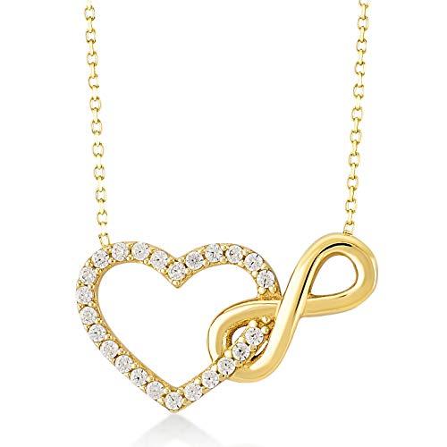 Infinity Heart Pendant Necklace