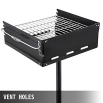 VEVOR-Outdoor-Park-Style-Grill-21-x-21-Inch-Charcoal-Grill-Carbon-Steel-Park-Style-BBQ-Grill-Height-50-in-Adjustable-Charcoal-Grill-with-Stainless-Steel-Grate-Outdoor-Park-Grill-In-ground-Pillar