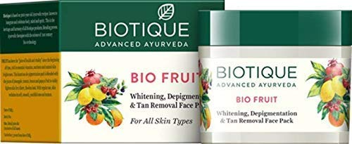 41ss R7u37L - Biotique Bio Fruit Whitening And Depigmentation & Tan Removal Face Pack, 75g