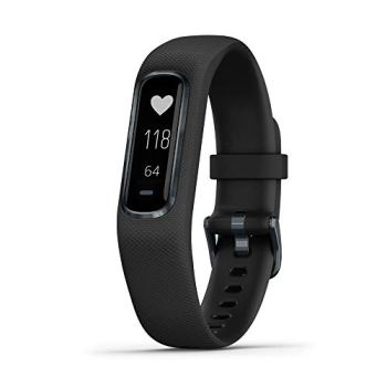Garmin Vívosmart 4, Activity and Fitness Tracker w/Pulse Ox and Heart Rate Monitor, Midnight W/Black Band
