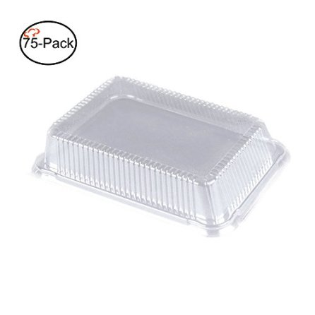 Tiger-Chef-Plastic-Dome-Lids-for-Half-Size-Aluminum-Foil-Pans-9-X-13-Pack-of-75