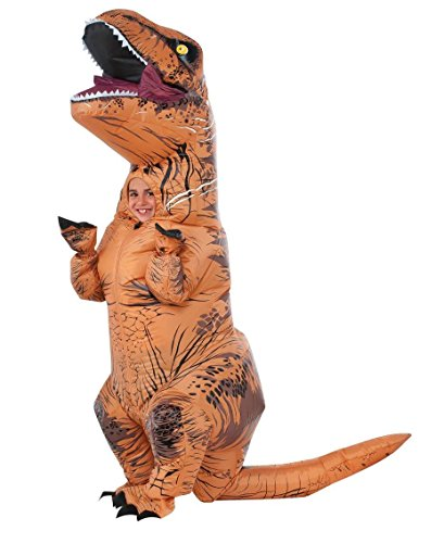 jurassic world inflatable T-Rex costumes - Rubie's Costume Co Jurassic World T-Rex Inflatable Costume (Child's age 5 to 7 Years)