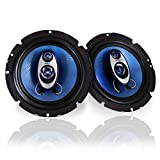 6.5' Three-Way Sound Speaker System - 180 W RMS/360W Power Handling w/ 4 Ohm Impedance and 3/4'' Piezo Tweeter for Car Component Stereo, Round Shaped Pro Full Range Triaxial Loud Audio - Pyle PL63BL