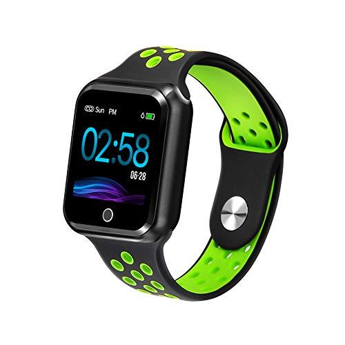 Fitness Tracker, WAFA Sports Smart Watch, Heart Rate/Blood Pressure/Sleep/Calorie/Sports Data Monitor, Bluebooth Smart Bracelet, IP67 Waterproof Pressure Pedometer Watch for Kids Women and Men (Green)