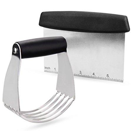 Pastry-Cutter-Set-Eagmak-Pastry-Blender-Dough-Scraper-Professional-Stainless-Steel-Bladed-Dough-CutterBlender-Scraper-Chopper-Set-for-Kitchen-Baking-Tools-Black