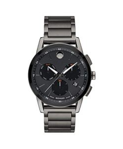 Movado Men's Museum Sport Chronograph Watch with a Printed Index Dial, Grey/Black (0607291)