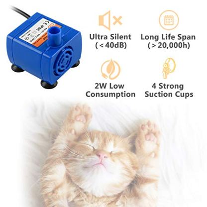 Veken-Pet-Fountain-84oz25L-Automatic-Cat-Water-Fountain-Dog-Water-Dispenser-with-3-Replacement-Filters-1-Silicone-Mat-for-Cats-Dogs-Multiple-Pets