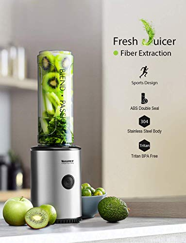 Smoothie Blender, Willsence Personal Blender 300W Single...