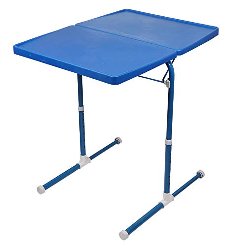 MULTI - TABLE Dual Side Multi Purpose Adjustable Foldable Utility Table for Laptop, Study, Kids, Office, Meal (Blue) 85