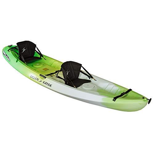 Ocean Kayak Malibu Two Tandem Sit-On-Top Recreational Kayak, Envy, 12 Feet