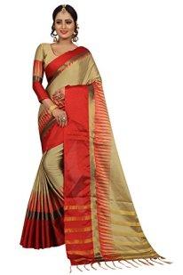 Perfectblue-Womens-cotton-Silk-Saree-With-Blouse-Piece-LongTampleVariation