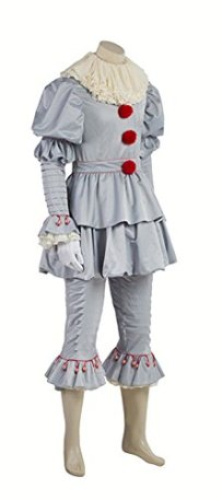 COSKING-Pennywise-Costume-for-Men-Deluxe-Halloween-Clown-Cosplay-Party-Outfit