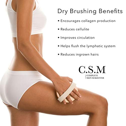 C.S.M. Body Brush for Wet or Dry Brushing - Gentle Exfoliating for Softer, Glowing Skin - Get Rid of Your Cellulite and Dry Skin, Improve Your Circulation - Gentle Massage Nodes 7