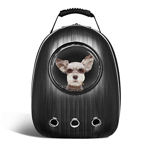 Blitzwolf Pet Portable Carrier Space Capsule Backpack, Pet Bubble Traveler Knapsack Multiple Air Vents Waterproof Lightweight Handbag for Cats Small Dogs & Petite Animals … 1