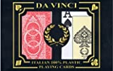 DA VINCI Ruote, Italian 100% Plastic Playing Cards, 2-Deck Poker Size Set, Jumbo Index with Hard Shell Case & 2 Cut Cards