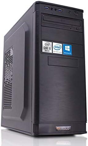 dcl24.de [12626] Office PC IT-5905 Intel i9-10900 10×2.8 GHz – 32GB DDR4, 240GB SSD & 1TB HDD, Intel UHD Grafik 630 1GB, WLAN, Windows 10 Büro Computer Desktop Rechner
