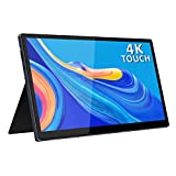4K USB C Portable Monitor,15.6 Inch 3840×2160 Touchscreen with Dual Type-C/Mini HDMI Port for Laptop PC MAC Raspberry Pi 4 Phone Xbox PS4 Switch