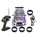 RC Drift Car Toy, 1/10 Four-Wheels Drive 4WD Remote Control Drift Car RC Racing Car Model Toy Vehicle(Two-Batteries Compartment(70km/h))