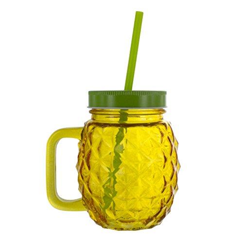 Pineapple Glass & Straw
