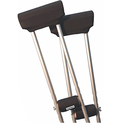 Crutcheze Black Underarm Crutch Pad and Hand Grip Covers with Comfortable Padding, Washable, Breathable, Moisture Wicking, Antibacterial, Designer Fashion Orthopedic Products Accessories