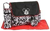 Disney Boys Mickey Mouse Multi Pc Diaper Bag Set, Large, Black