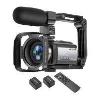 Video Camera Camcorder 4K 60FPS kicteck Ultra HD Digital WiFi Camera 48MP 3 inch Touch Screen Night Vision 16X Digital…