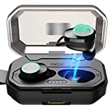 [2019 Version] Fokecci Wireless Bluetooth Earbuds-Quality HI-FI Stereo Sound,5.0 Wireless Earbuds 3000mAh Charging Case & Built in Microphone,Sweatproof Earphones,Compatible with All Bluetooth Devices