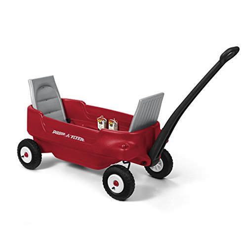 Radio Flyer All-Terrain Pathfinder Wagon Ride On, Red