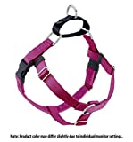 Wiggles Wags Whiskers Freedom No-Pull Dog Harness: Velvet Padding, Multi-function & USA Made! Lots of Sizes & Colors (Leash Not Included), Medium 1' Raspberry