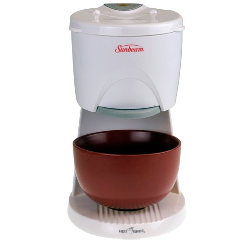 Sunbeam 6142 Hot Shot Hot Water Dispenser with Red Ceramic Bowl, White