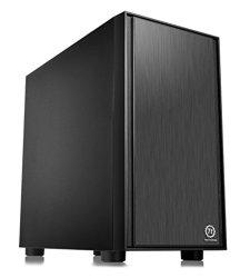 Thermaltake Versa H17 Black SPCC Micro ATX Mini Tower Gaming Computer Case CA-1J1-00S1NN-00