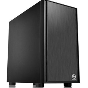 Thermaltake Versa H17 Black Micro ATX Mini Tower Gaming Computer Case 2.0 Edition with One 120mm Rear Fan Pre-Installed…