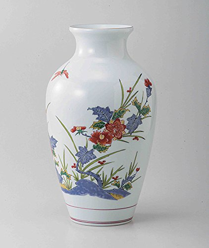 TOKYO MATCHA SELECTION - [Premium] Arita-yaki kakiemon: PEONY - Japanese Porcelain Vases w Box from Arita Saga Japan [Standard ship by EMS: with Tracking & Insurance]