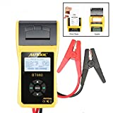AUTOOL Automotive Battery Tester 12V/24V Car Battery System Tester Cranking and Charging Test System Analyzer Scan Tool with Printer (BT-660)